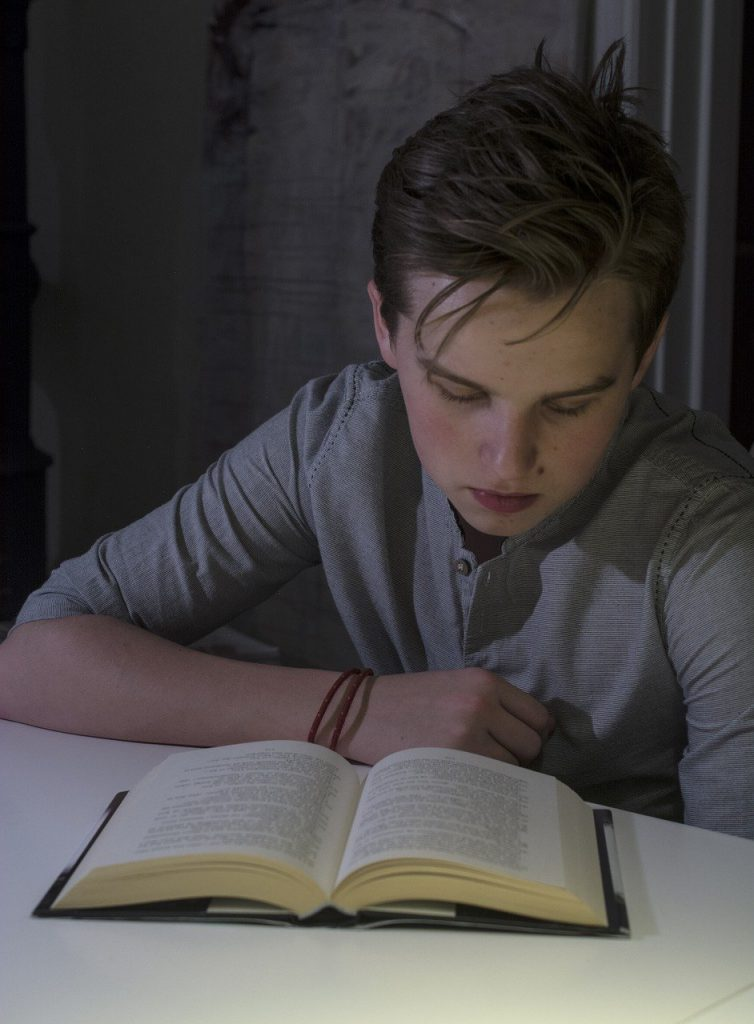boy, learning, book